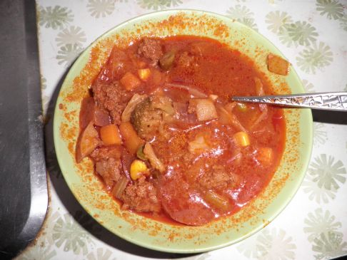 Smokey Vegetable Beef Soup