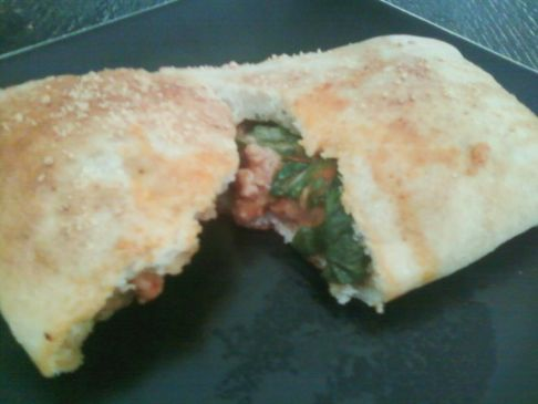 Turkey-Spinach Calzone