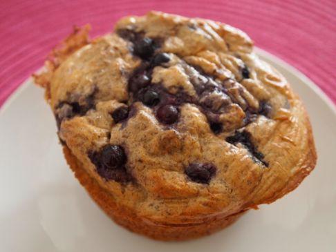 SarahFit High Protein Blueberry Muffins
