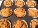 Spiced Carrot Walnut Muffins