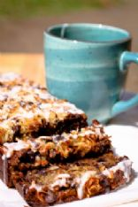 Peggy's Famous Coconut Chocolate Chip Banana Bread with Glaze Gone Gluten Free