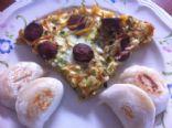 Egg and Sausages Polenta