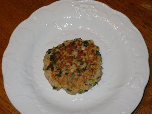Salmon Patties with Spinach