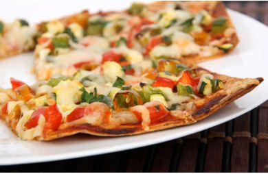 Tortilla Vegetable Pizza Recipe