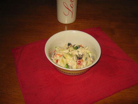 Tuna Veggie Pasta Salad