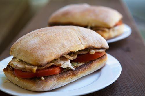 Chicken, Zucchini & Ricotta Sandwich