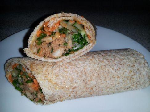 Thai Chicken & Fresh Veggie Wraps