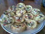 Smoked chicken and broccoli mini quiche