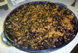 blueberry pie, deep dish