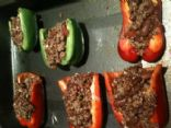 Stuffed Peppers with Lean Beef, Kidney Beans and Red Quinoa