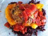 Tex-Mex turkey stuffed peppers