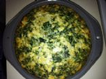 Spinach Feta No Crust Quiche