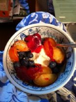 Blueberries and Pluots