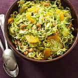 Shaved Brussel Sprouts with Green Onion Vinaigrette