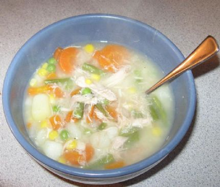 Homemade FAMILY Chicken Veggie Soup