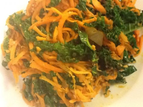 Kale and Sweet Potato Sautee