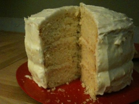 Lemon Rosemary Cake with Lemon Cream Cheese Frosting