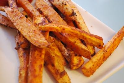 Spicy chili sweet potato fries