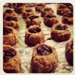 Gluten Free Jammin' Almond Thumbprint Cookies