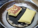 Blintzes with potato filling