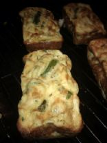 Onion, asparagus, cheese and quinoa mini frittatas