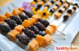 Orange & Black 'Halloween' Fruit Kabobs