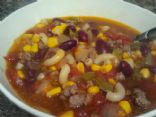 Ground Beef Minestrone Soup