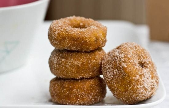 Cinnamon Sugar Pumpkin Doughnuts Recipe  SparkRecipes
