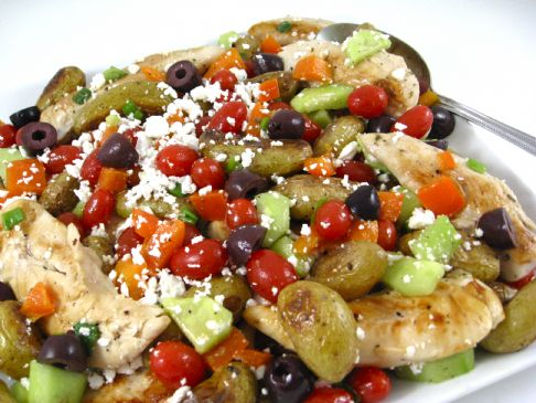 A Colorful Greek Salsa Topped Chicken That's Bursting with Flavor
