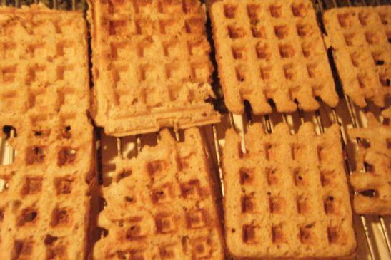 Sunflower Oatmeal Waffles