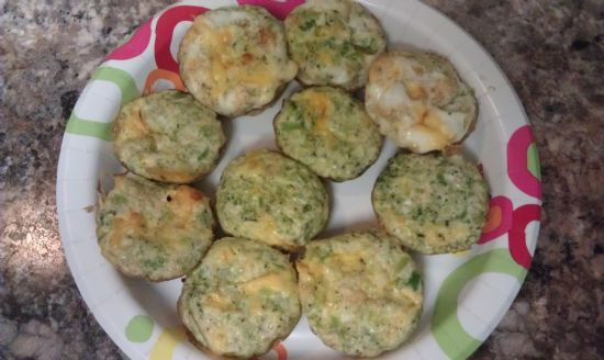 Broccoli and Cheese Muffin Omelets