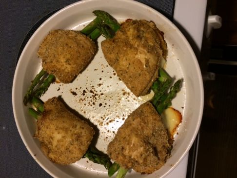 Monterey Jack and Asparagus Stuffed Chicken