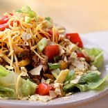 ground turkey taco salad by Ceirde