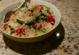 Lemon Quinoa with Shrimp, Cucumber & Tomatoes