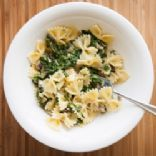Chicken, Spinach, Parmesan  Bow-Tie Pasta