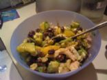 Mango, avocado and bean salad