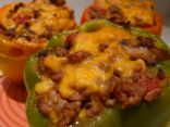 Cheesey Stuffed Peppers (Low-Carb)