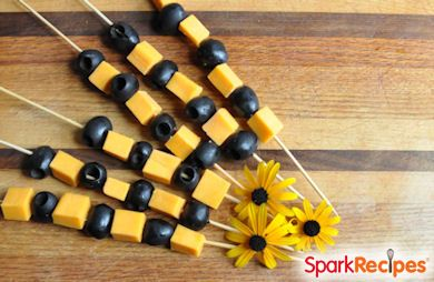 Olive & Cheese Halloween Snack Kabobs