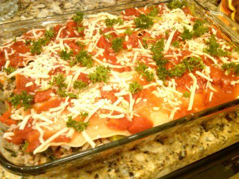 Yummy Turkey and Veggie Lasagna