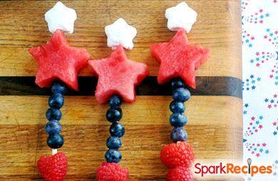 Fireworks Kabobs (Patriotic Fruit Skewers)