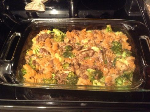 Low Sodium Mac & Cheese with Ground Beef & Broccoli