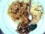 Dudhichi bhaji (calabaza-chana dal-curry)