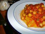 Chickpeas + Spiced Tomato Sauce