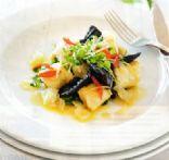 Charred Mushrooms w Gnocchi & Tomato Salsa