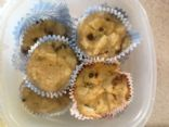 Almond flour apple raisin muffins