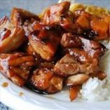 Bourbon Chicken, Rice and Veggies
