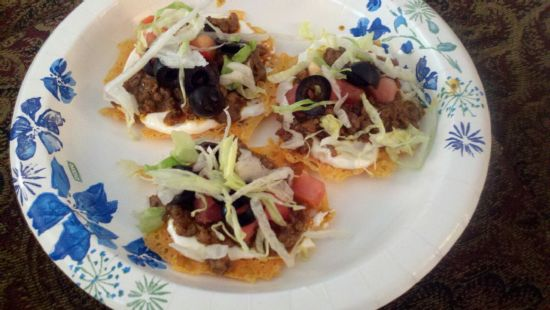 Cheese Crisp Tostada Supreme (low carb)