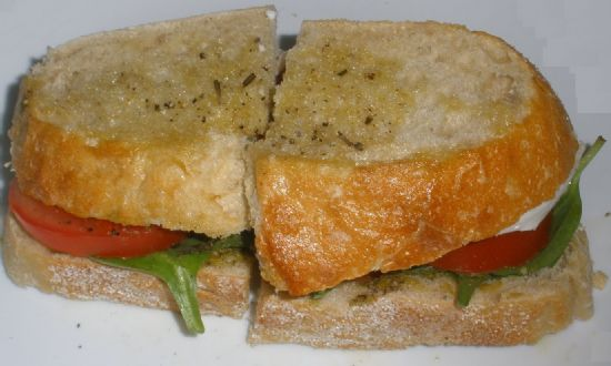 Caprese Sandwich on Sourdough