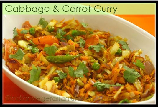 Cabbage Carrot Curry North Indian Style Recipe