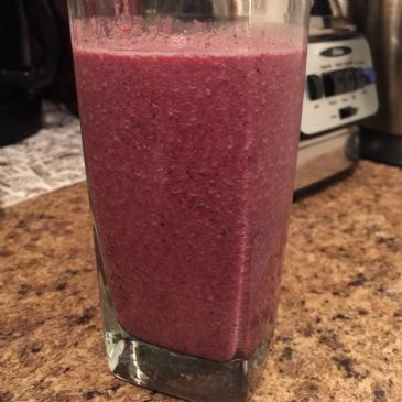 Blueberry, Strawberry, Almond Milk & Whey Protein Smoothie